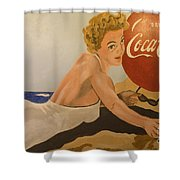 Coca Cola  Vintage Sign Shower Curtain