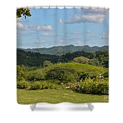 Cockpit Mountains Shower Curtain