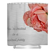 Cocktail Party Invitation - Fabric Rose Shower Curtain