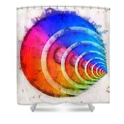 Code Of Colors 8 Shower Curtain