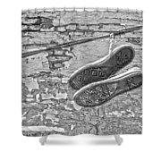 Codes Bricks And Roads  Shower Curtain