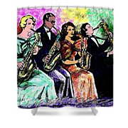 Coed Sax Section Shower Curtain
