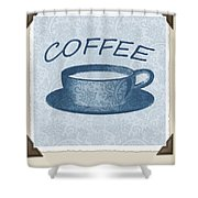 Coffee 1-2 Scrapbook Shower Curtain