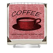 Coffee 2 Scrapbook Shower Curtain