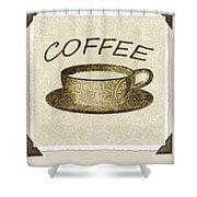 Coffee 3-2 Scrapbook Shower Curtain