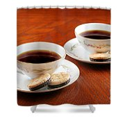 Coffee And Cookies Shower Curtain