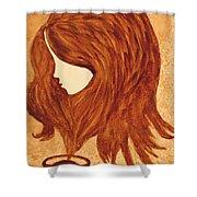 Coffee Break Coffee Painting Shower Curtain