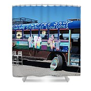 Coffee Bus Shower Curtain