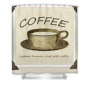 Coffee Cup 3 Scrapbook Shower Curtain