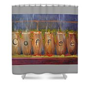 Coffee In The Window Shower Curtain