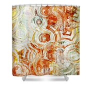 Coffee Rings Abstract Shower Curtain