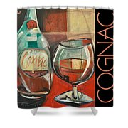Cognac Poster Shower Curtain