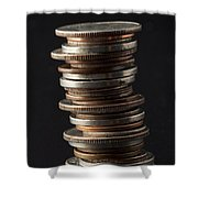 Coin Stack 1 Shower Curtain