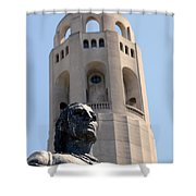 Coit Tower Statue Columbus Shower Curtain