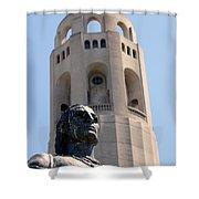 Coit Tower Statue Columbus Shower Curtain