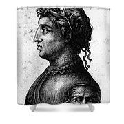 Cola Di Rienzo (1313-1354) Shower Curtain