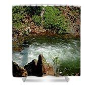 Cold Creek Waters Glen Alpine Creek Shower Curtain