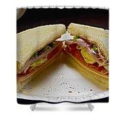 Cold Cut Sandwich Shower Curtain