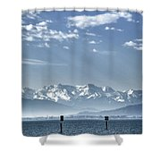 Cold Lake Shower Curtain