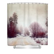 Cold Road Shower Curtain