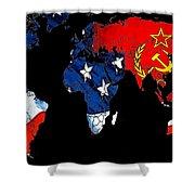Cold War Map Shower Curtain