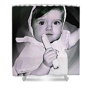 Colette 1 Year Old Direct Pappa Hans  To Take A Photography 2 Shower Curtain