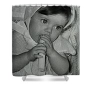 Colette 1 Year Old With 3 Eye Opend Shower Curtain