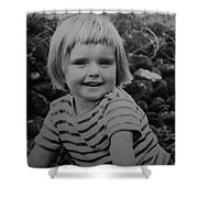 Colette Happy 4 Years Old In France Shower Curtain