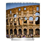 Coliseum Facade Shower Curtain