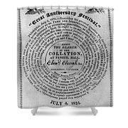 Collation Ticket, 1824 Shower Curtain