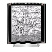 Collecting Seashells By The Seashore Shower Curtain