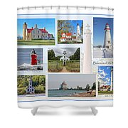 Collection Of Lighthouses Shower Curtain