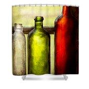 Collector - Bottles - Still Life Of Three Bottles  Shower Curtain