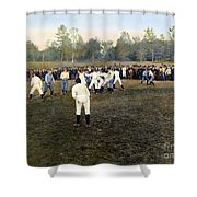 College Footbal Game, 1889 Shower Curtain