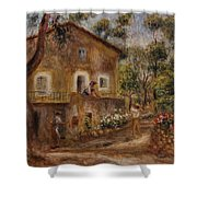 Collette's House At Cagne Shower Curtain