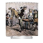 Colonial Coffee House Shower Curtain