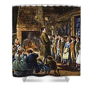 Colonial Schoolhouse Shower Curtain