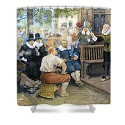 Colonial Smoking Protest Shower Curtain