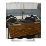 Colonial Soldiers Artifacts Shower Curtain