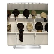 Colonial Wigs Display Shower Curtain