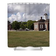 Colonial Williamsburg Scene Shower Curtain