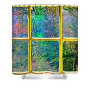 Colonial Window Panes Shower Curtain