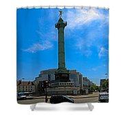 Colonne De Juillet And Opera De Paris Bastille Shower Curtain