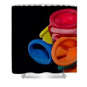 Color Balloons Shower Curtain