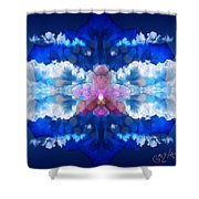 Color Sky Orchid Shower Curtain