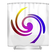 Color Spiral Shower Curtain