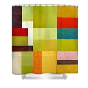 Color Study Abstract 9.0 Shower Curtain by Michelle Calkins