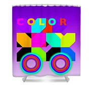 Color Wheels Shower Curtain