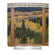 Colorado Autumn Picture Window Frame Art Photos Shower Curtain