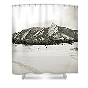 Colorado Boulder Flatirons  Shower Curtain